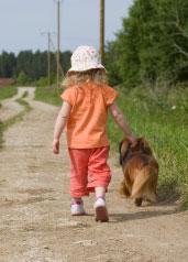 Girldogwalkingdownlanenarr